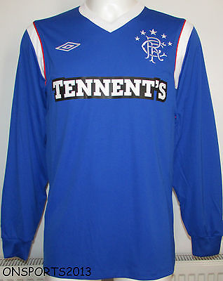 Mens Umbro Glasgow Rangers Long Sleeve football Shirt 2011/2012 Size M / XL