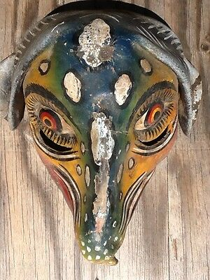 Molded Leather Dog Mask, Old Mexican Dance Mask