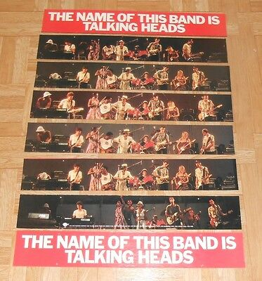 The Name of the Band is The Talking Heads Mobile Display Promo 1983 Poster 22x16