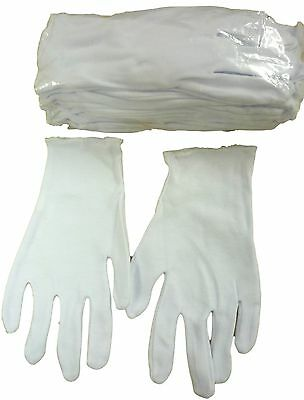 White 100% Cotton Gloves PACK of 10 XS -XXL Beauty/Photo/Medical/Eczema/Child