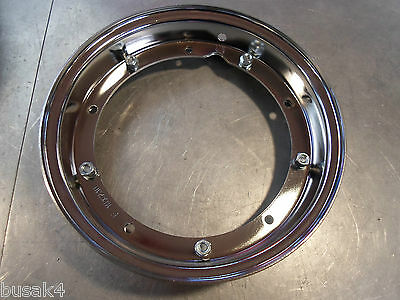 "Vespa T5 Px 150 200  Chrome Genuine Italian Wheel Rim 10"" New Italian Made"