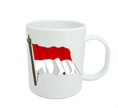 Monaco Flag  Coffee Mug Free Personalisation