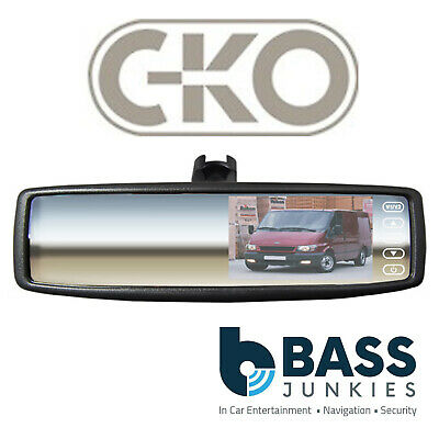 "C-KO Universal 4.3"" Rear View Car Van Truck Reversing Clip on Monitor & Mirror"