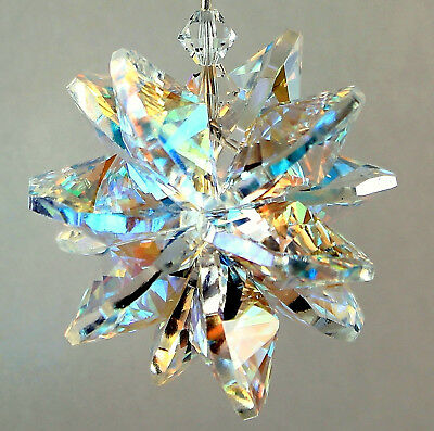 LARGE Aurora Borealis Star Burst Sun Catcher m/w ALL SWAROVSKI CRYSTAL