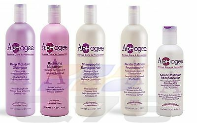 ApHogee Shampoo, Moisturizer, Balancer and 2 Minute Keratin Reconstructor.