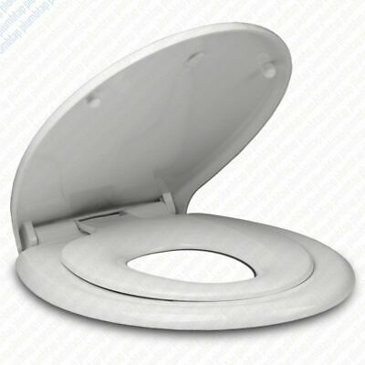 2 In 1 Toilet Seat.2 In 1 Child Family Top Fixing Soft Close White Toilet