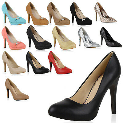 e8ef925b73ed Süße Party Damen Pumps Glitzer High Heels Schuhe 98117 Gr. 36-41 Top