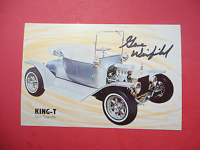 Gene Winfield autographed Don Tognotti's King T Show Hot Rod Photo POSTCARD