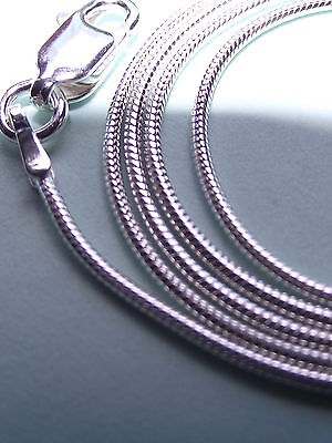 UK Jewellery 925 Sterling SIlver Snake,Curb Rope Necklace Pendant Bracelet Chain