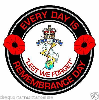 REME Remembrance Day Inside Car Window Clear Cling Sticker