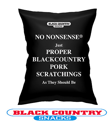 No Nonsense Just Proper Black Country Pork Scratchings - Available - 10/12/20/24