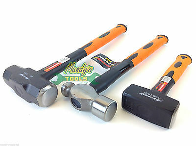 3 Hammers 4LB Mini Sledge 2.2LB Club Hammer 32oz Ball Pein Orange Soft Grip MT65