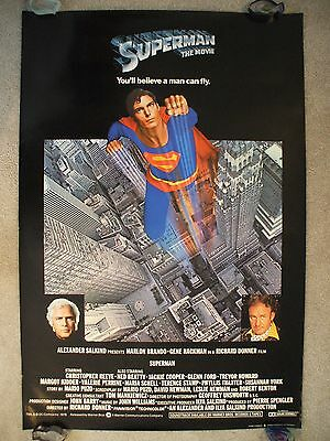 Superman * 1978 Original Movie Poster Rare English Man Of Steel Reeve Rolled Nm!