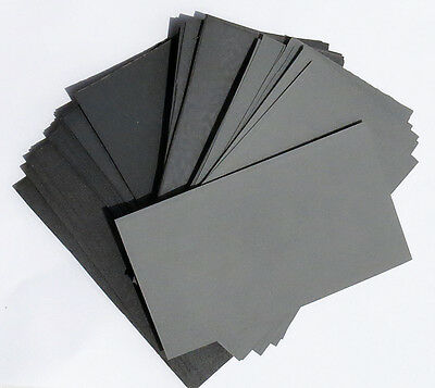 "sandpaper Wet or Dry 70pc.3"" X 5 1/2"" COMBO 400/600/800/1000/1200/1500/2000 Grit"