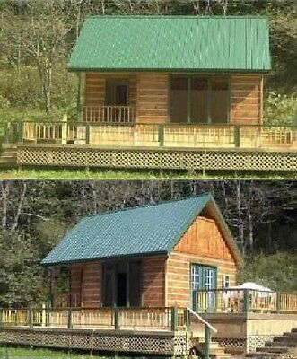 16x24 Cabin w/Loft Plans Package, Blueprints, Material List & Instruction Guide