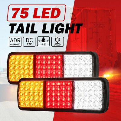 2x Lightfox LED Tail Stop Indicator Combination Lamp Submersible Light 12V ADR