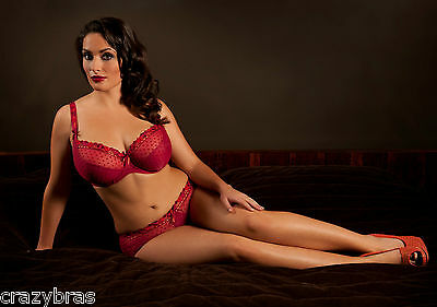 Curvy Kate - Princess Scarlet/Chilli Bra, Shorts,Thong- 34, 36, 38 / DD, E, F, G