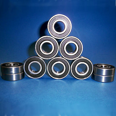 10 Kugellager 6204 2RS / 20 x 47 x 14 mm