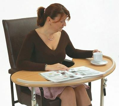 Kidney Shaped Adjustable Height Over Bed & Over Chair Table