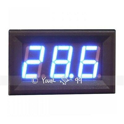 Mini BLUE LED DC Amp Current Meter Ammeter 0-10A UK SALE New