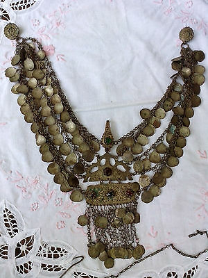 ANTIQUE massive SILVER necklace- Handcrafted 18th century - RARE,  AUTHENTIC