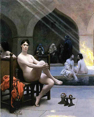 """Excellent Oil painting Jean-Leon Gerom female The Women's Bath on canvas 36"""""""