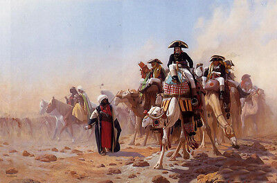Beautiful Oil painting Jean-Leon Gerom Napolean and his General Staff in Egypt