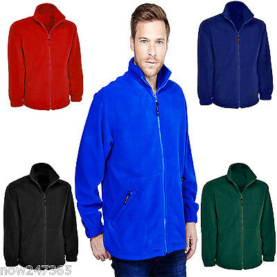 Mens Plain Fleece Jacket XS-6XL Plus Zip-Up  Work / Casual / Leisure *UK STOCK*