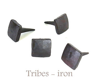 "Lot Of 4 Handmade 3/4"" Square Head Nails Wrought Iron Antique Door Decor Studs"