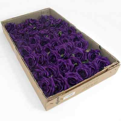 Artificial Single Curve Roses - Various Colours - Box of 48 stems