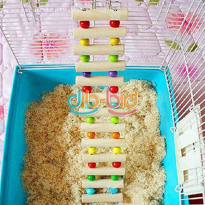 Flexible Wooden Rat Hamster Mouse Ladder Gerbil Small Animal Pet Toy Hot EBUK