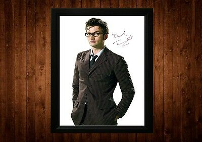 David Tennant Signed Framed Pp A4 Print Gift Ideas Hamlet Dr Who