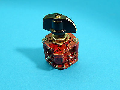 4-Pole 5-Positions 4P5T Rotary switch + handle, USSR Military, (5P4NPM)