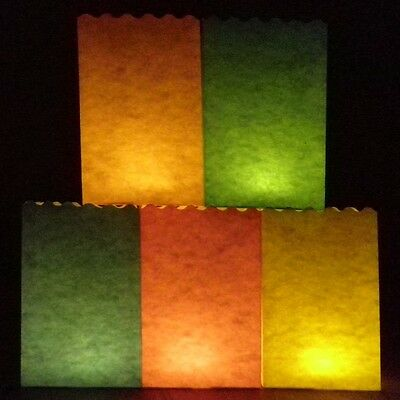 20cm Plain Colour Candle Bags - a 10 pack perfect for your own papercraft design