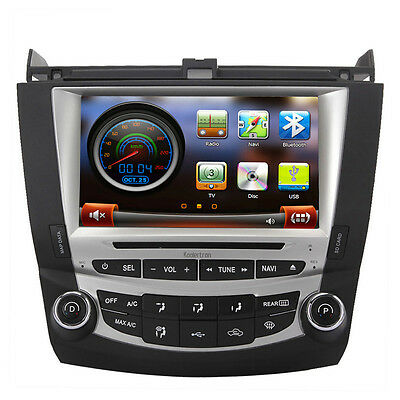"A9 1GHZ 8"" Auto Radio DVD GPS Satnav Headunit Stereo For 2003-2007 Honda Accord"