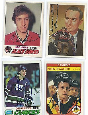 1977-78 OPC # 393 Mike Veisor Signed Autographed Card Chicago Black Hawks