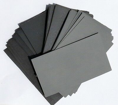 "sandpaper Wet or Dry 50pc. 3"" X 5 1/2"" COMBO FROM 180 to 2000 Grit RHYNOWET"