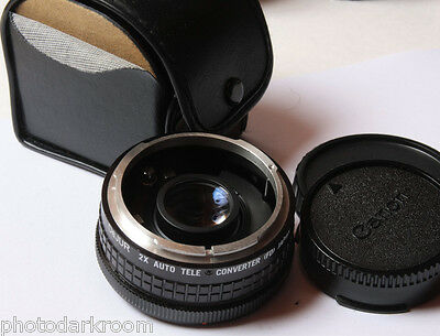 Dejur 2x Auto Teleconverter For Canon FD - Japan - Glass Good w/Caps - USED D38