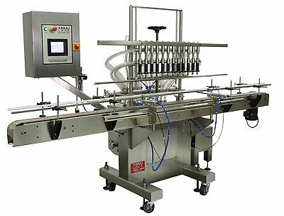 6-Head Pressure Overflow Low Viscosity Liquid Filler for Bottles and Containers