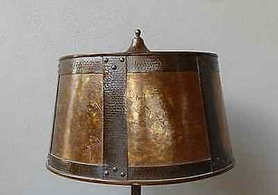 Period Arts And Crafts  Hammered Copper & Mica Shade Only