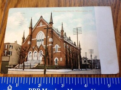 1909 Vintage post card of The Presbyterian Church, Wilmington Delaware -Val.& S