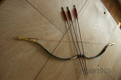 Hunting Longbow Set 15-80# Bow Recurve Bow+ String And Bowbag+3 Bamboo Arrows