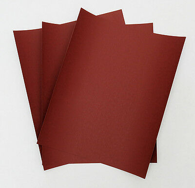 "SANDPAPER Wet or Dry 50sheets 3""x5 1/2"" COMBO from 320 to 2500 Grit RHYNOWET RED"
