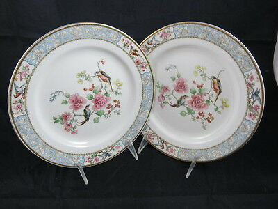 Grindley Baroda Pattern Bird of Paradise Set of 2 Luncheon Plates