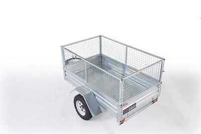 BOX CAGE TRAILER HOT DIP GALVANISED 7x5 with 600mm cage  BRAND NEW