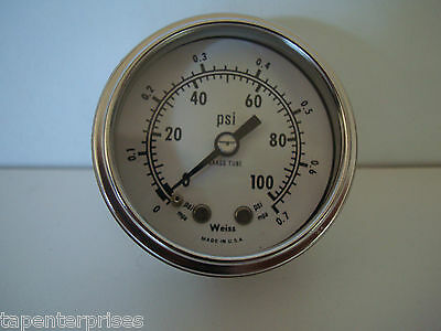 Weiss Oil Pressure Gauge 44-5769 Thermo King # 44-5769 0-100 Psi 0-.7 Mpa