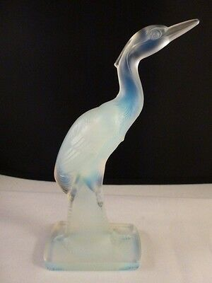 Sabino Opalescent Stork Heron Art Glass  Brand New