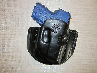 Kahr Pm9, Cm9 With Crimsontrace Laser, Formed Leather Pancake Holster,right Hand