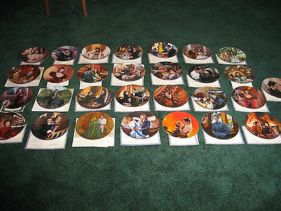 Gone With The Wind  Collector Plates - WS George - Lot of 29 -  with COA'S