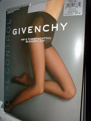 3 Givenchy Silver Fox Hip Tummy Control Gleamer  Pantyhose Stocking -A/b 00546
